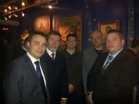 Sa leva na desno: direktor TOB Dejan Veselinov, ambasador Republike Srbije u Rusiji dr Slavenko Terzić, predsednik UO TOB Đorđe Čabarkapa